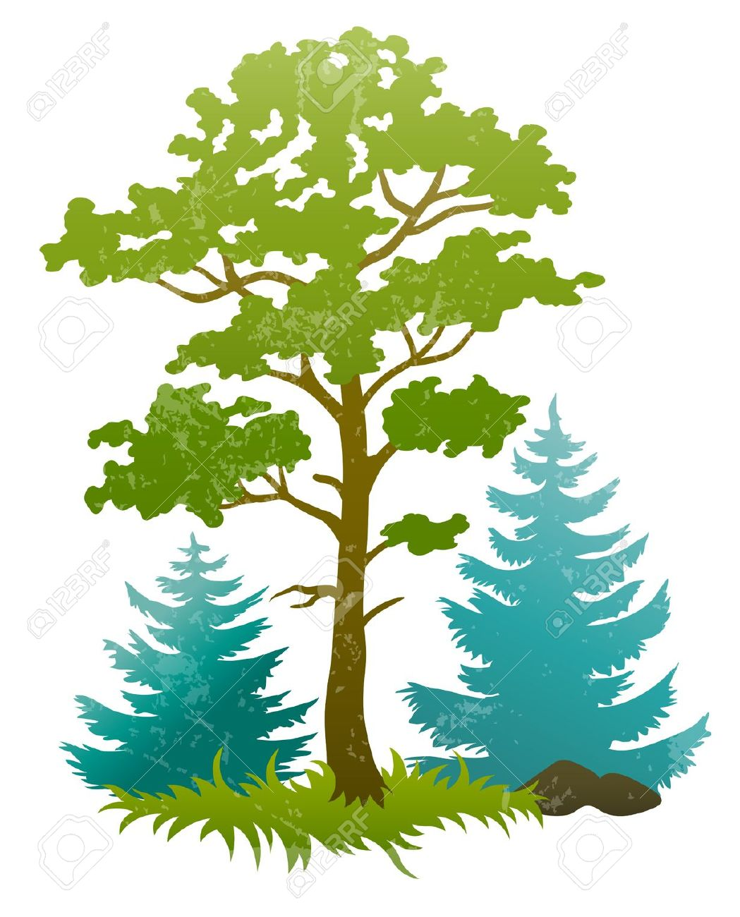 Silhouette of at getdrawings. Bush clipart forest