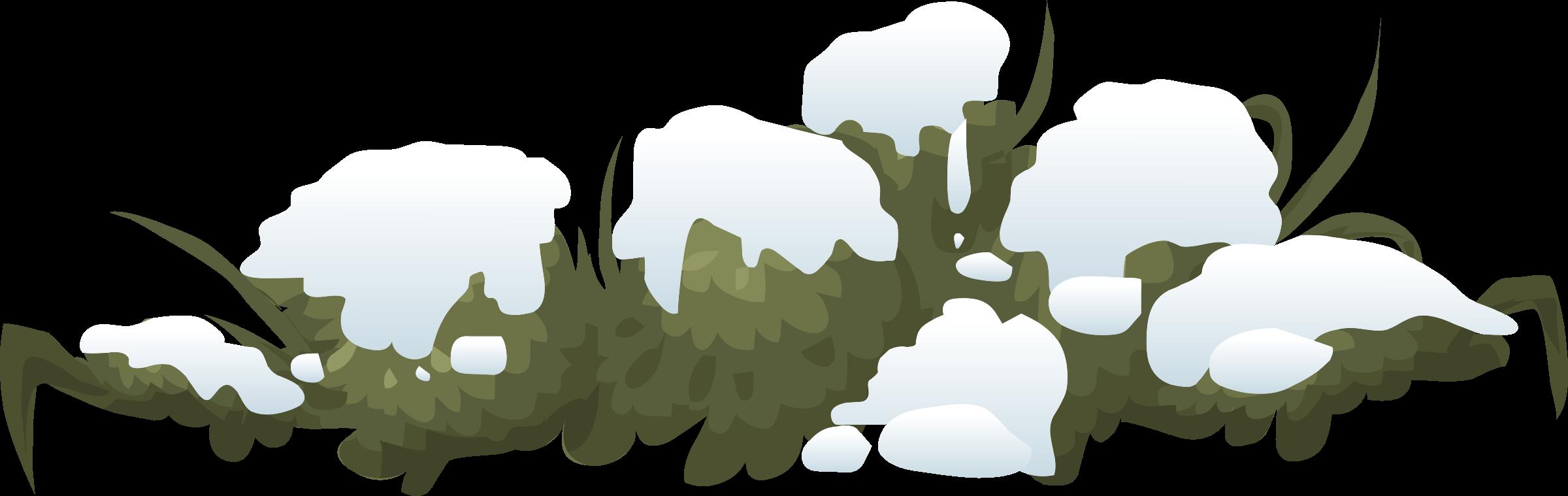 Bushes clipart landscape. Alpine snow bush c