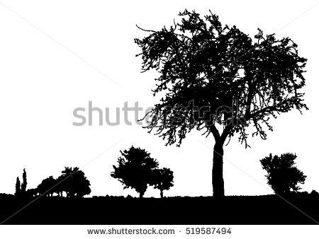 Bush clipart landscape. Bushes black and white