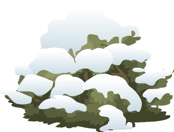 Alpine snow clip art. Bush clipart landscape