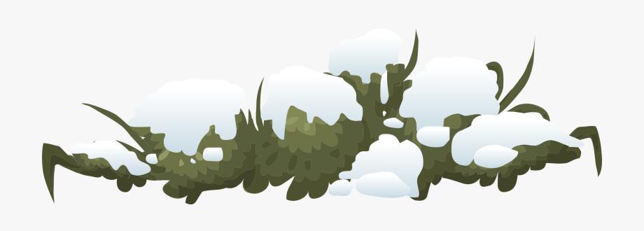 Bush clipart landscape. Images with snow