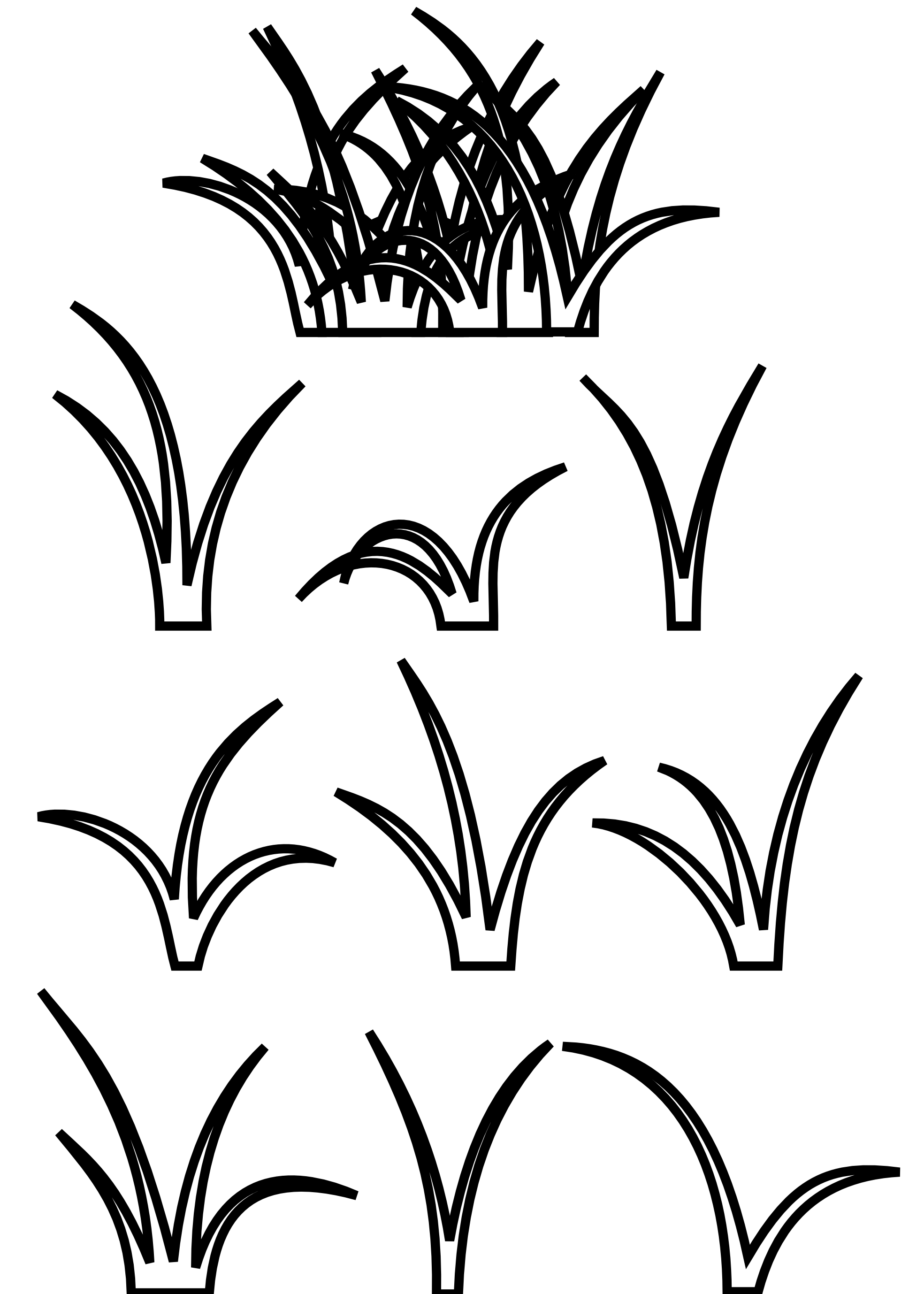 Line drawing at getdrawings. Clipart grass black and white