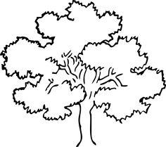 Bush clipart outline. Trees black and white