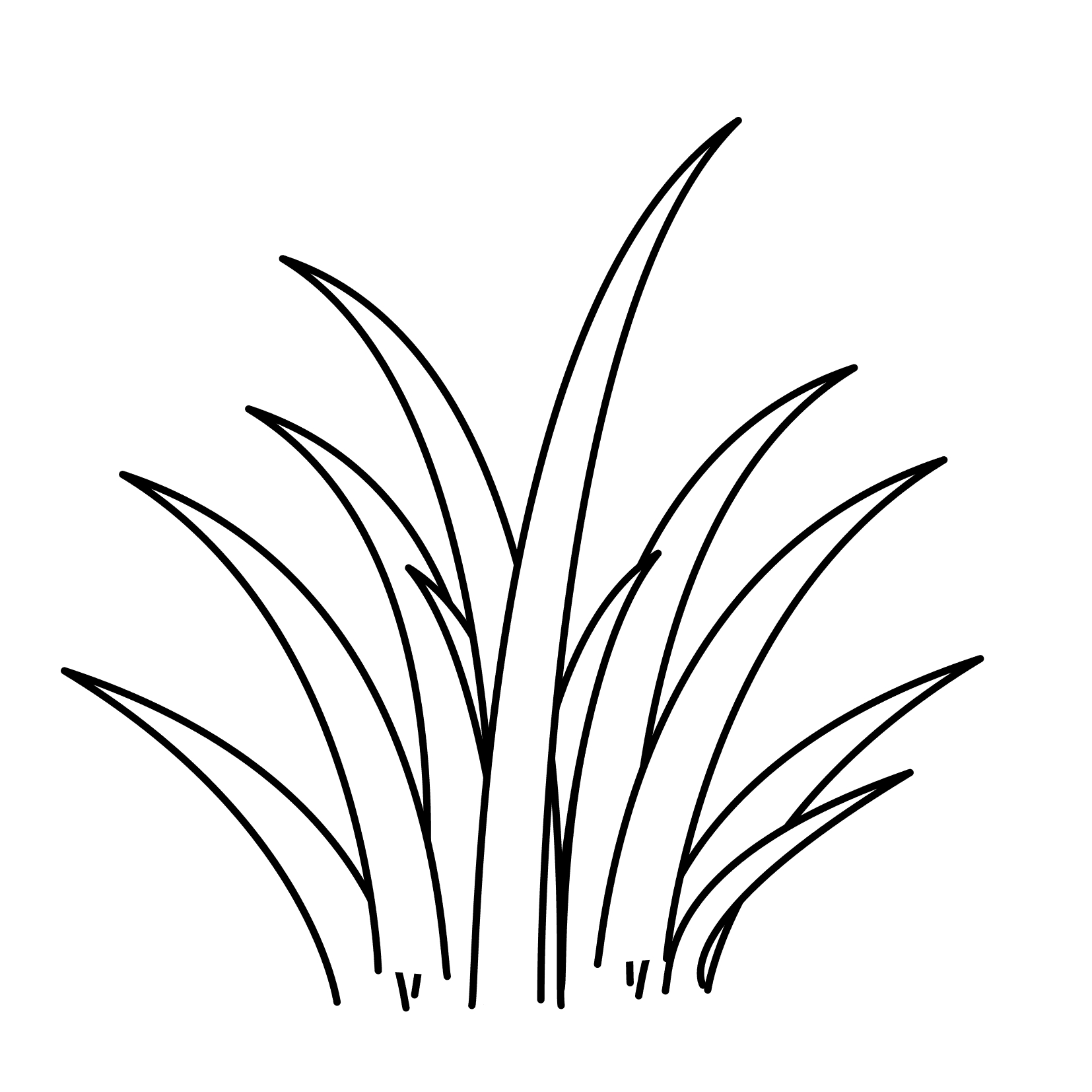 Bush clipart outline. New grass black and