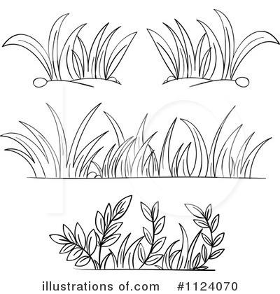 Grass cilpart marvelous design. Bush clipart outline