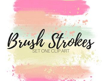 Navy brush stroke clip. Bush clipart paint