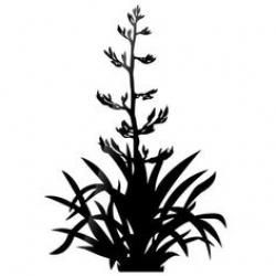 Bush at getdrawings flax. Bushes clipart silhouette