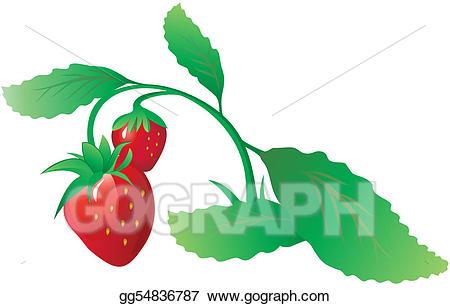 Bush clipart strawberry. Vector art eps gg