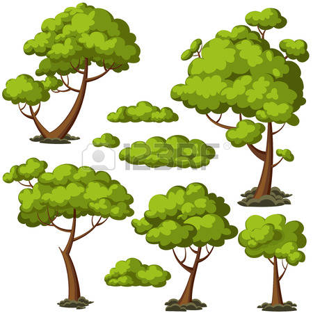And trees free cliparts. Bush clipart vector