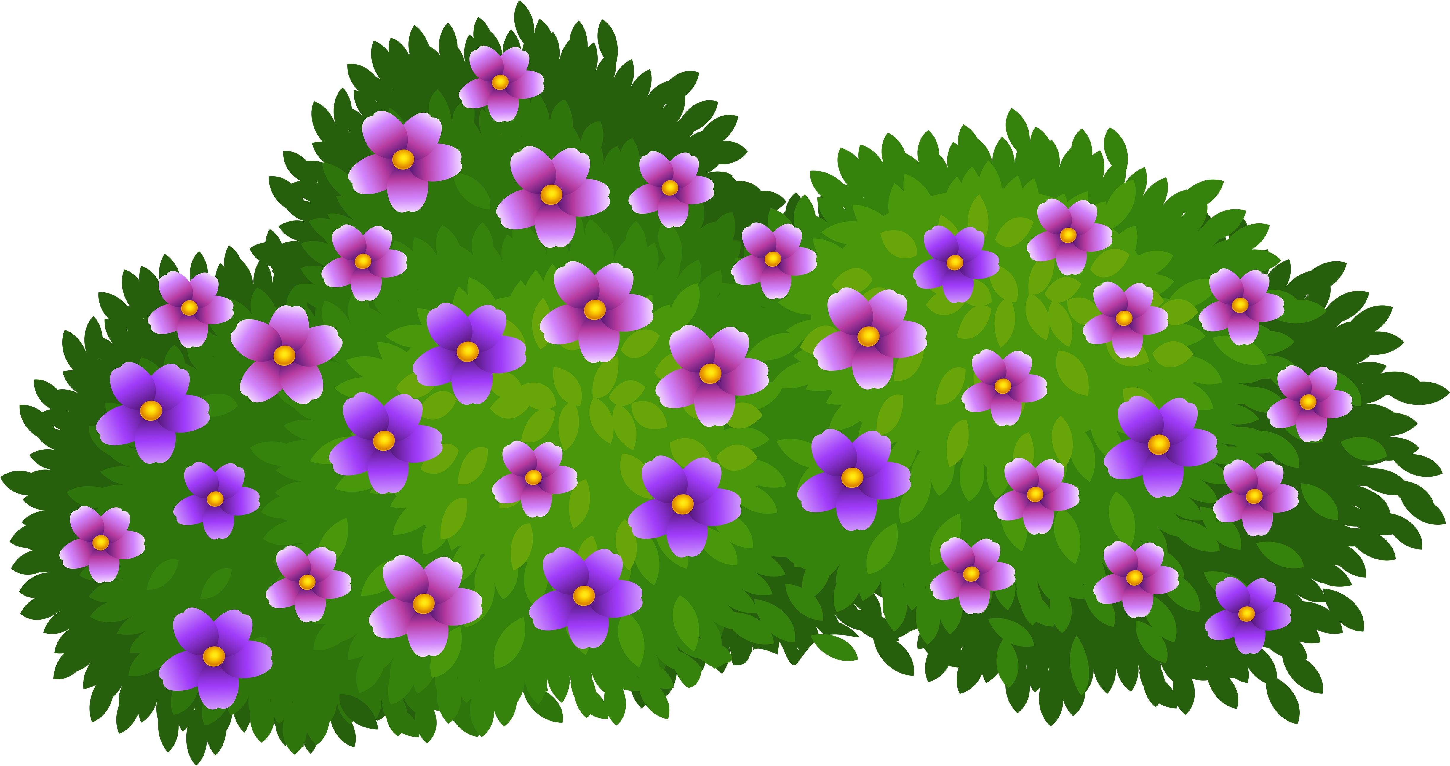 Hd flower bush free. Bushes clipart