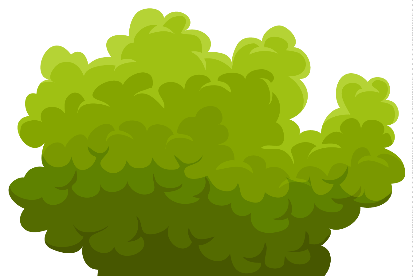 Bushes clipart. Station