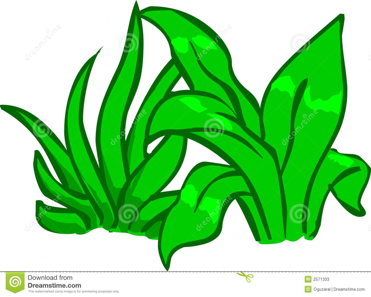 Cartoon plant group illustration. Bushes clipart animated