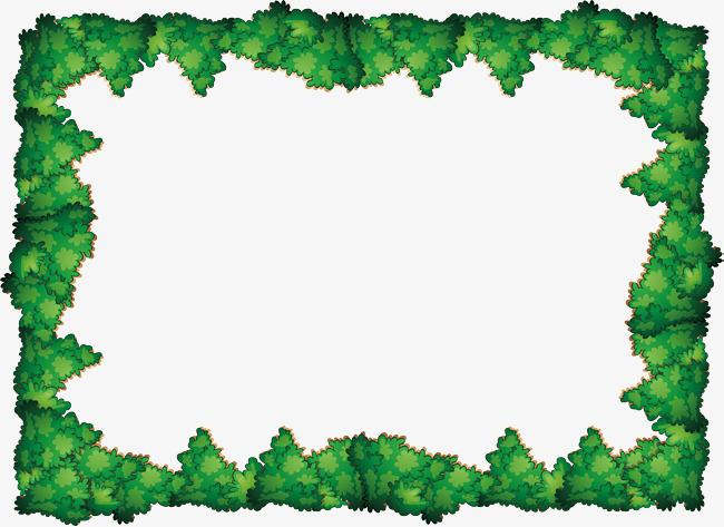 Green tree border png. Bush clipart vector
