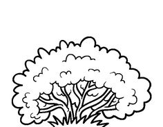 collection of bush. Bushes clipart black and white