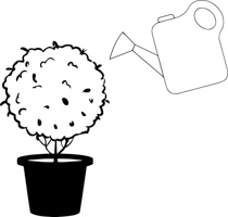 Bushes clipart black and white. Free plants outline clip