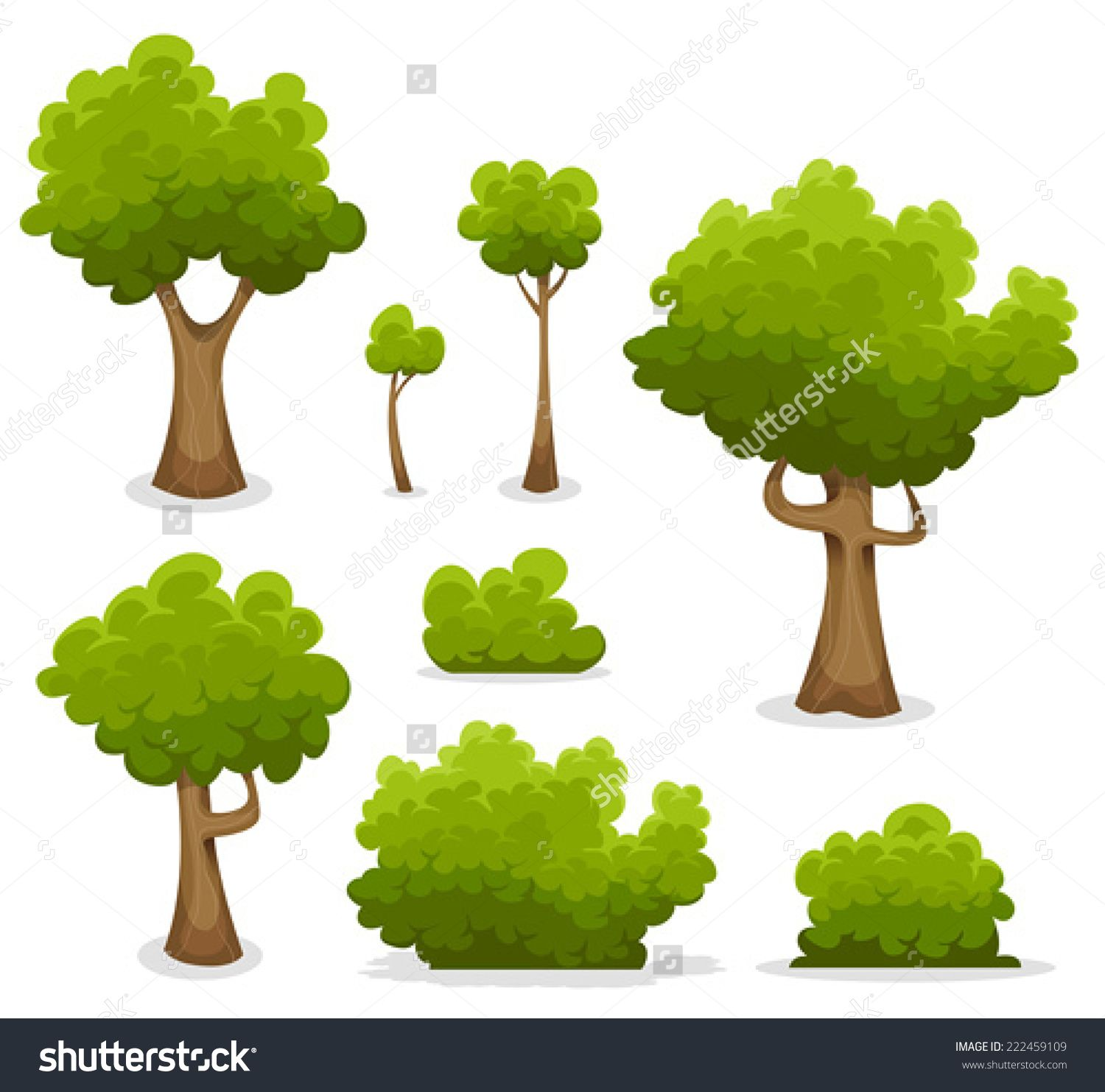 Bushes clipart chibi. Forest trees hedges and