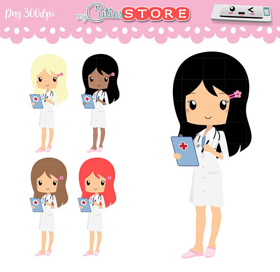 Doctor appointment kawaii medical. Bushes clipart chibi