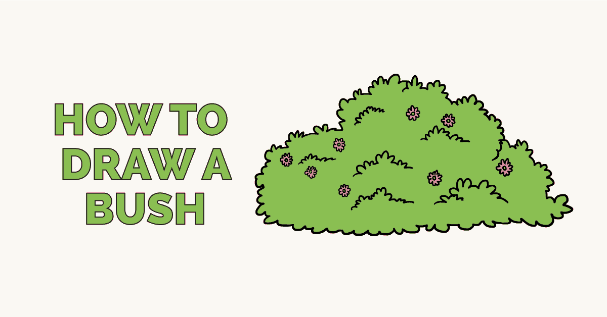 How to draw a. Bushes clipart drawing