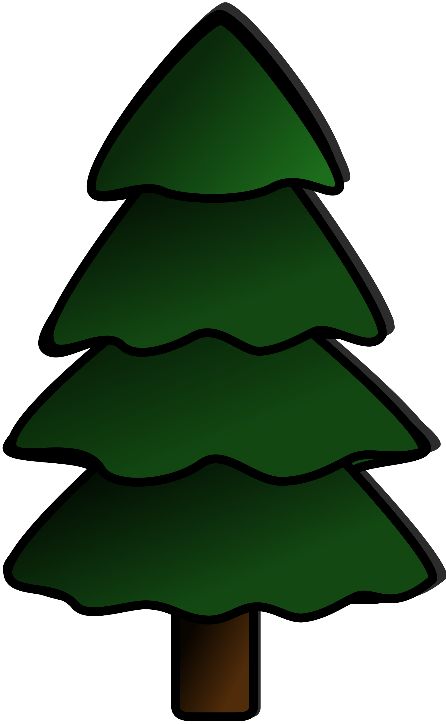 Silhouette at getdrawings com. Clipart trees evergreen