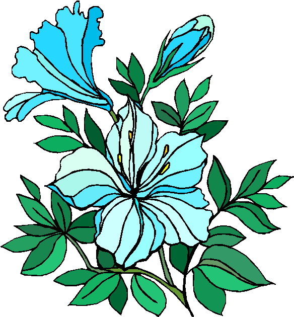 Clip art flowers and. Bushes clipart flower