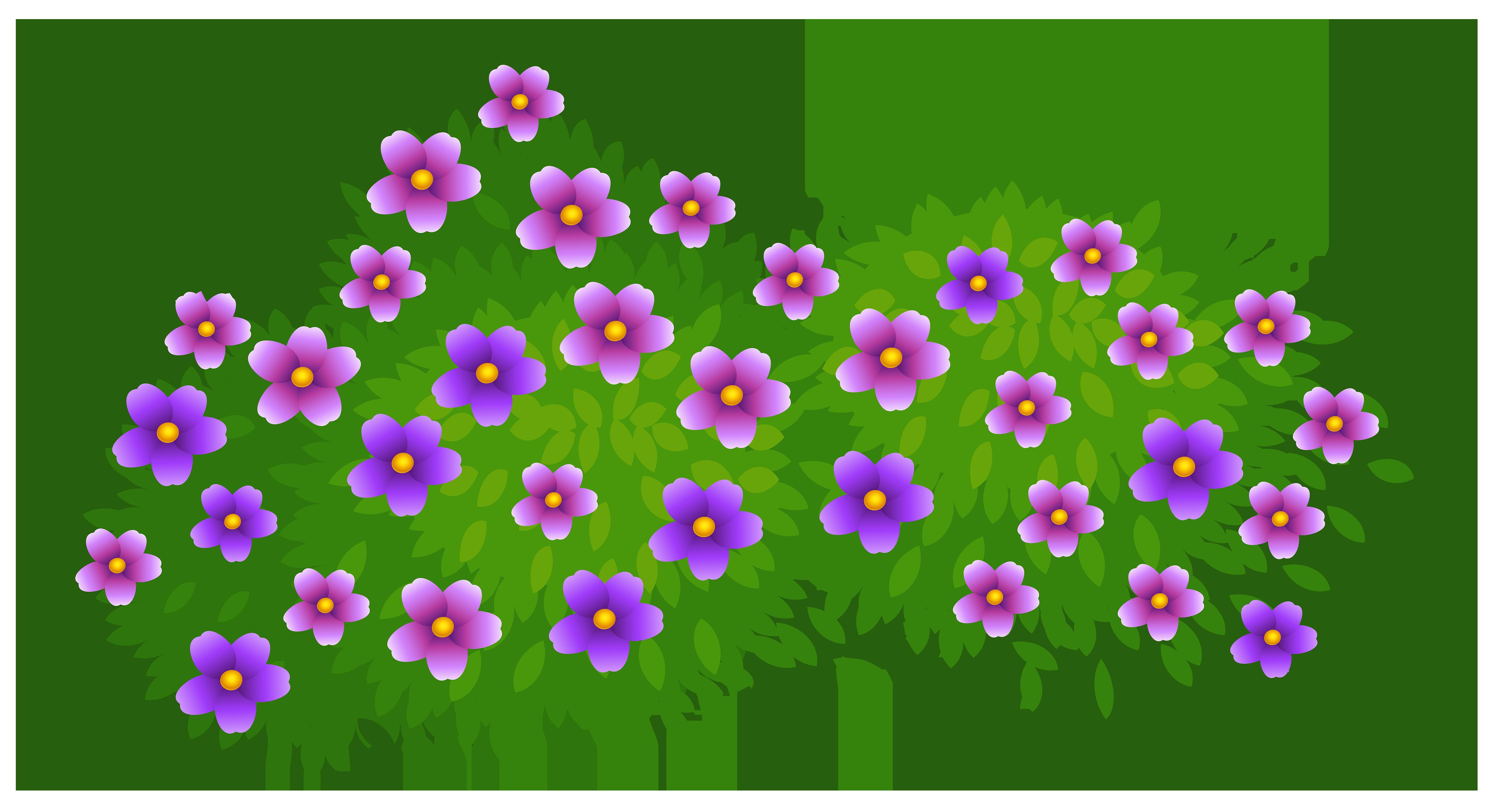 Bush clipart vector. Flowering shrubs clipground flower