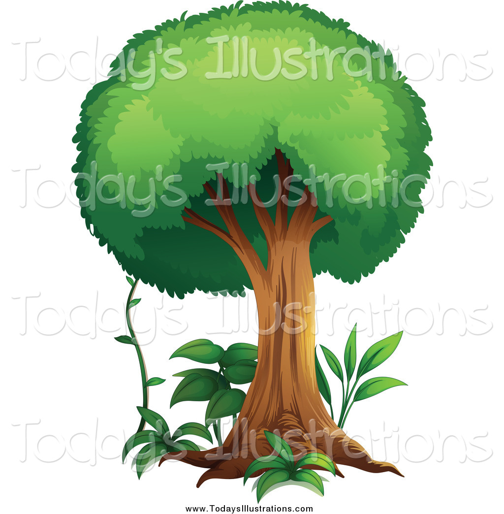 Bushes clipart forest. Royalty free stock new