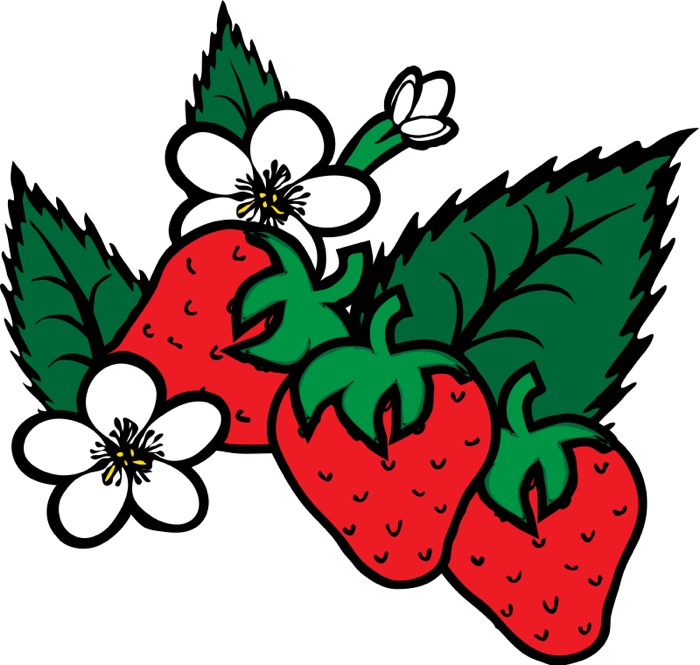 Farming clipart strawberry farm. Strawberries lemons cherries fruit