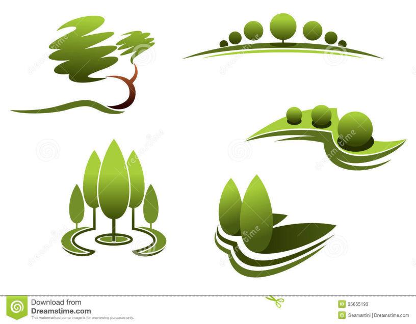 Designs . Bushes clipart landscape