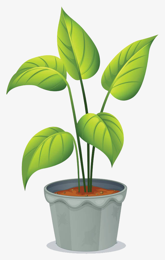 Bushes clipart potted. Cartoon plants gardening plant