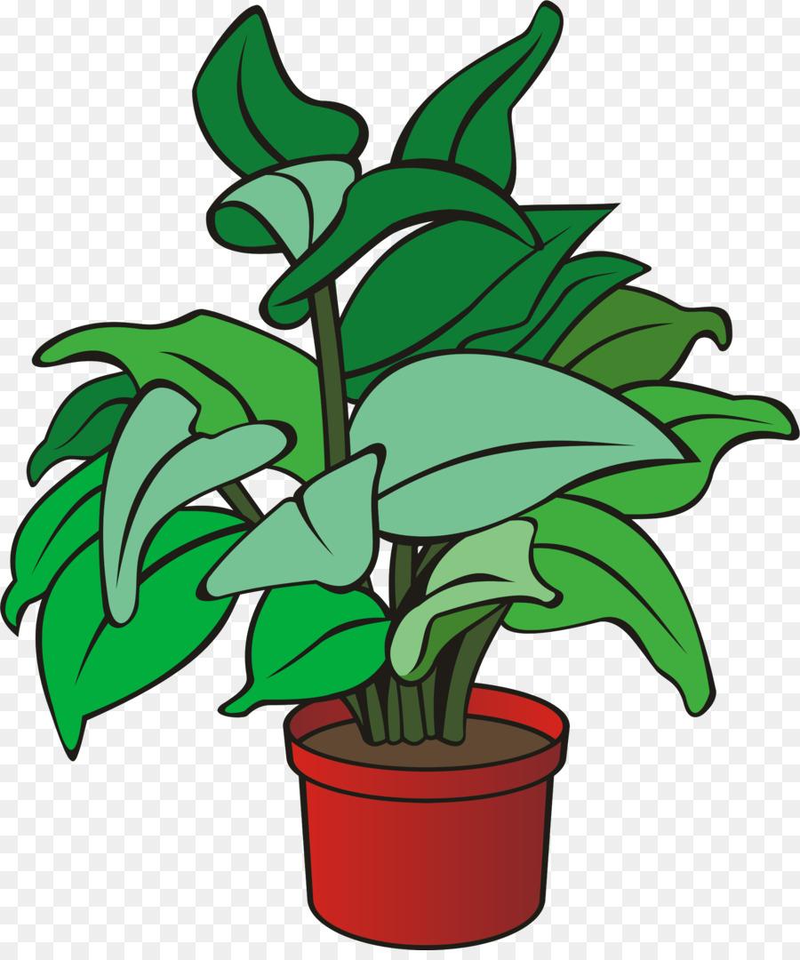 Bushes clipart potted. Pot leaf cartoon plants