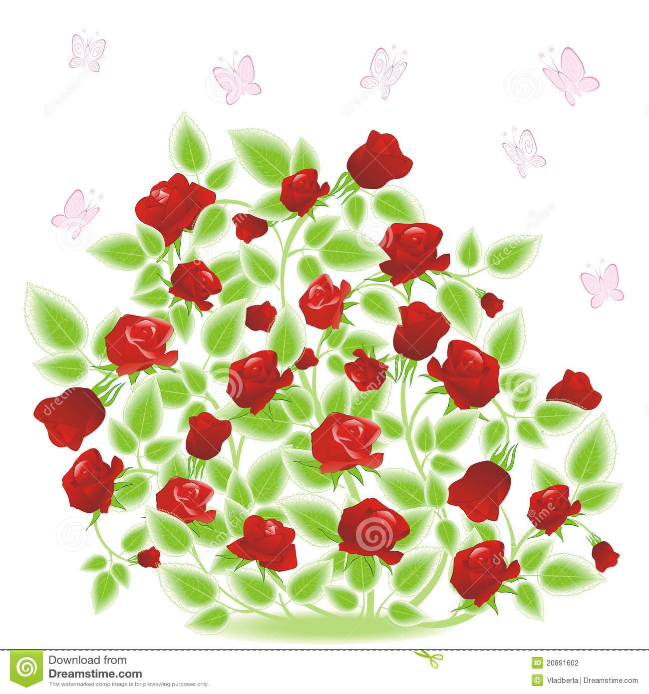 Chic and creative bush. Bushes clipart raspberry