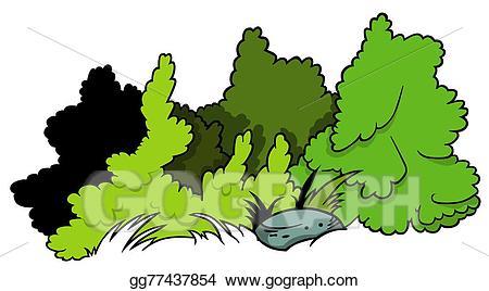 Vector art shrubs drawing. Bushes clipart shrub