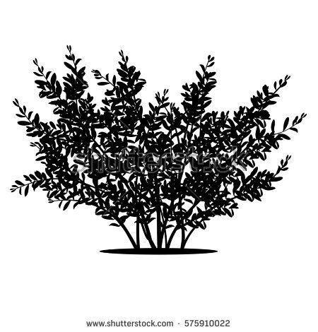 Bushes clipart silhouette. Risultati immagini per arbusto