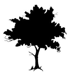 Bushes clipart silhouette. Art silhouetteplant page tree