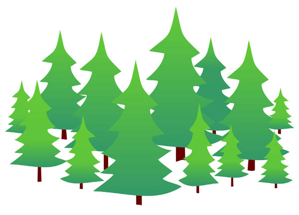 Clipart forest. Bushes tree free on
