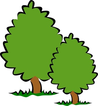 Bushes clipart vector. For free download about