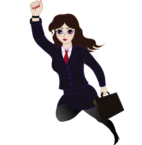 Business clipart animated. Businesswoman