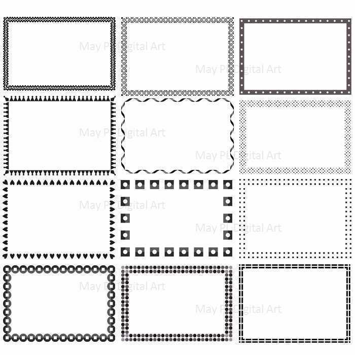 Cards clipart boarder. Borders for business incep