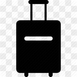 Baggage computer icons suitcase. Business clipart briefcase