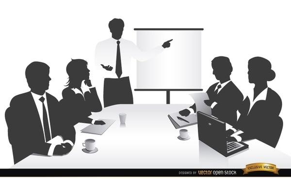 Business clipart business collaboration. Meeting clip art free
