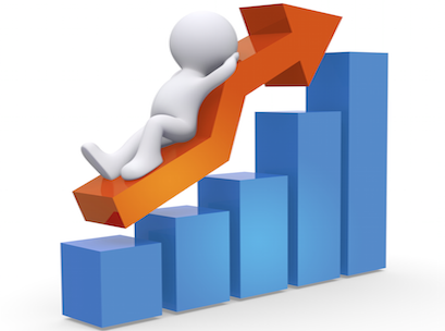 Bricks and mortar sales. Business clipart business growth