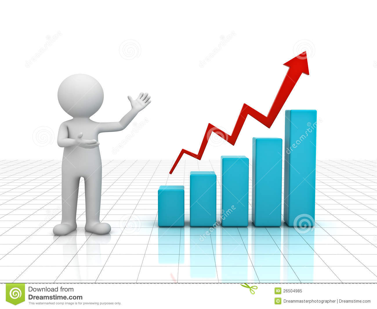 Growth clipart. Business graph