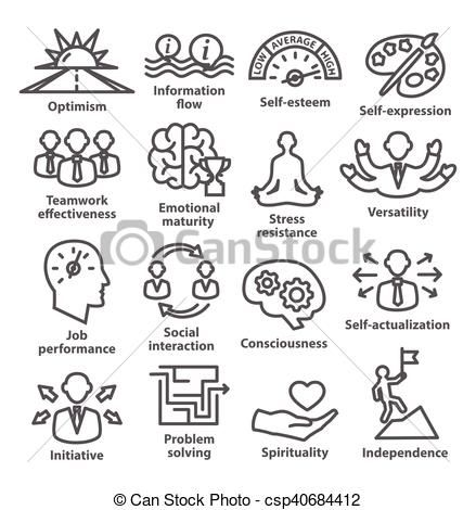 Vector icons in line. Business clipart business management