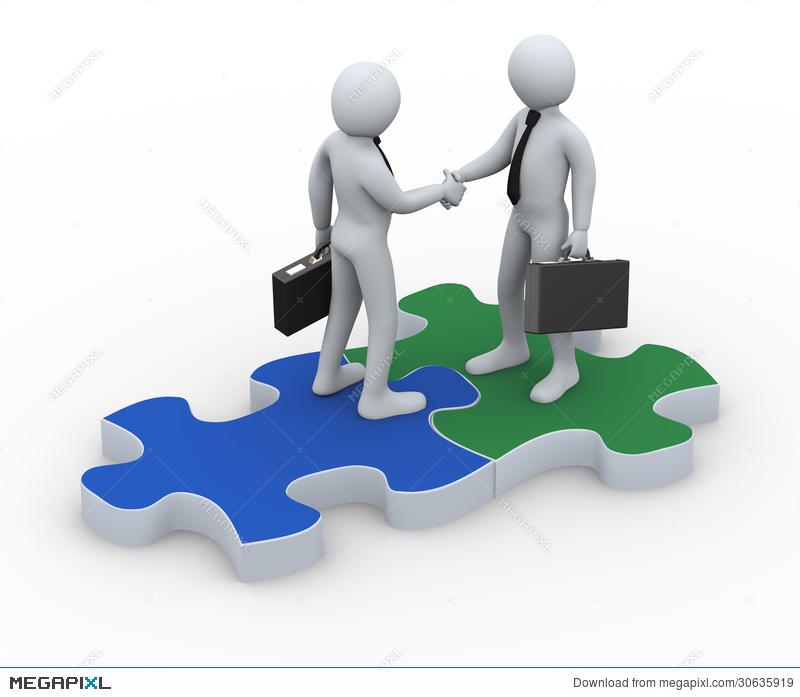 Business clipart business partner.  d on puzzle
