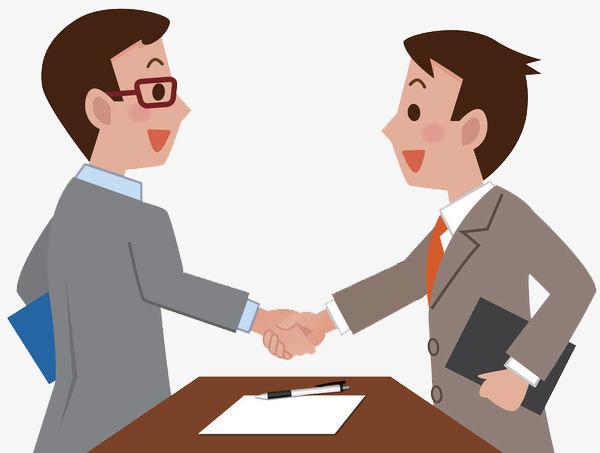 Business clipart business partner. Partners shake hands together