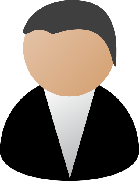Black clip art at. Business clipart business person