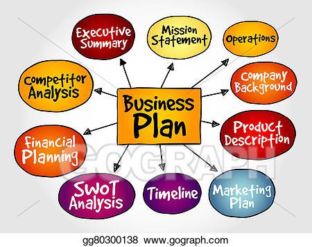 Planning clipart stock. Business plan illustration gg
