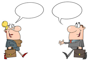 Business clipart cartoon. People image man and