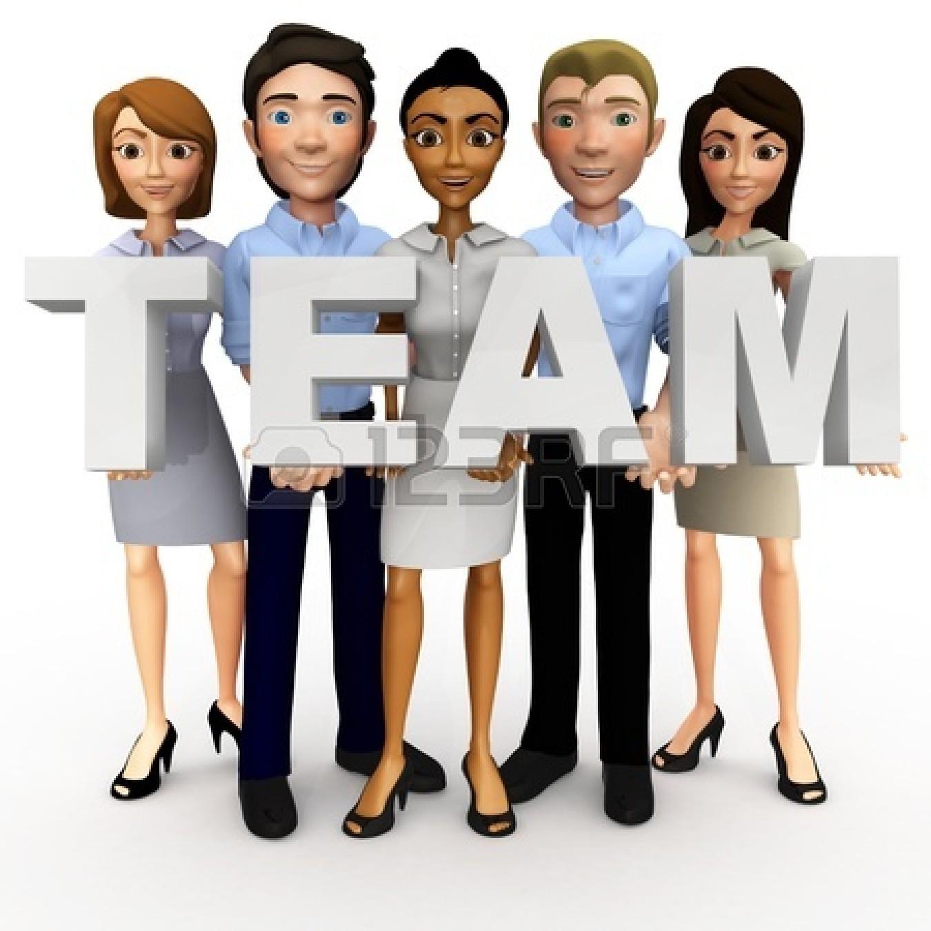 Business clipart cartoon. Teamwork d panda free
