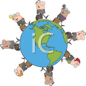 Business clipart cartoon. A colorful of people